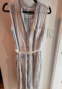 Gap Button Down Midi Wrap Dress